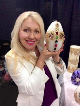 Faberge Style Egg Candles