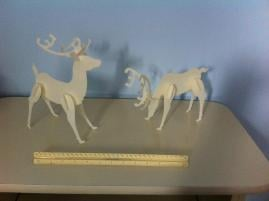 Tabletop Reindeer Holiday Decorations