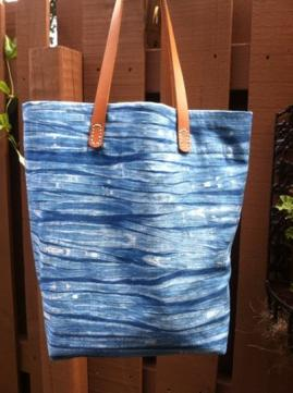 Indigo shibori Art-to Wear and Home Fashion