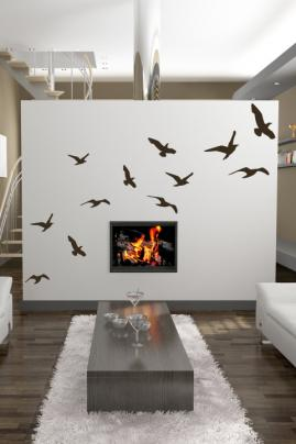 Singing Birds WALLTAT Wall Decals