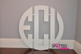 Wooden Monograms and Letters