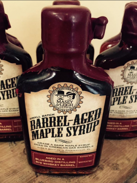 Barrel-aged maple syrup and vinegar