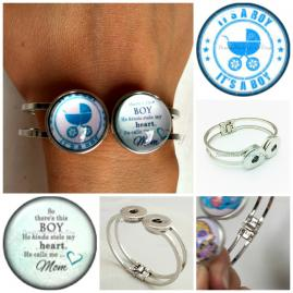 Interchangeable snap charm jewelry