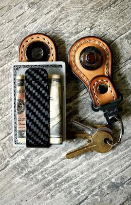Warlock Carbon Fiber Money Clip+Key Fob