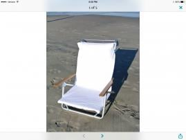 Fitted terry cloth Beach chair cover
