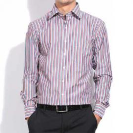 Wholesale White And Pin Stripe Burgundy Shirt
