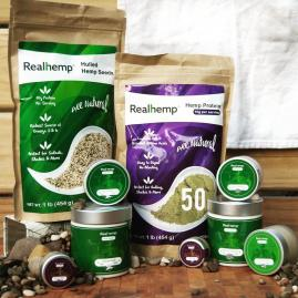 Realhemp™ Skin Care, Health Foods and Up-Cycled Fashion