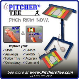 Pitcher's Tee Baseball and Softball Training Aid