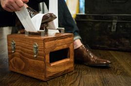 Handmade Shoe Shine Box