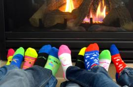 high quality,fun,mismatched athletic socks w/ inspirational message and charity affiliation.