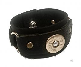 Upcycled Leather Shotgun Shell Cuff