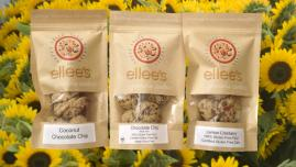 All Natural granolas, granola cookies including gluten free and dairy free cookies