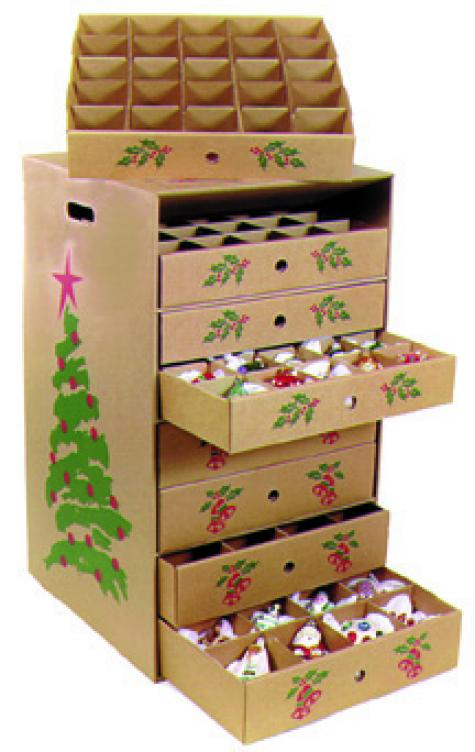 Christmas ornament storage box
